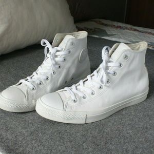 Converse All Star High Top Leather White Mens 11.5
